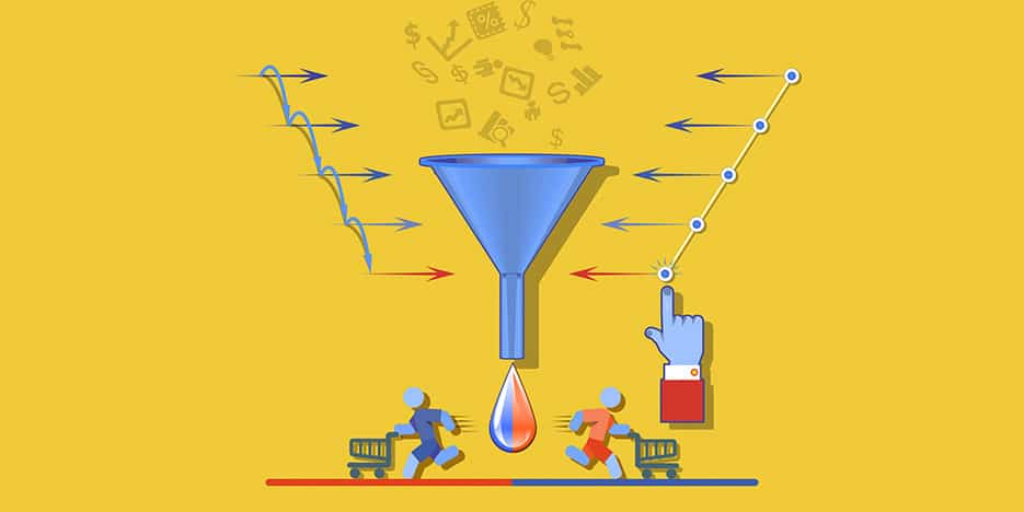 Illustration Sales Funnel Content Marketing