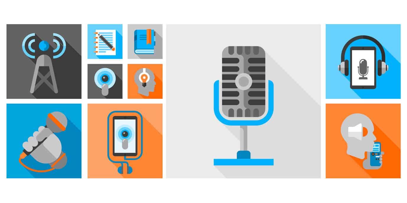 Was ist für die Podcast-Produktion wichtig? © Fotolia 2016 / macrovector