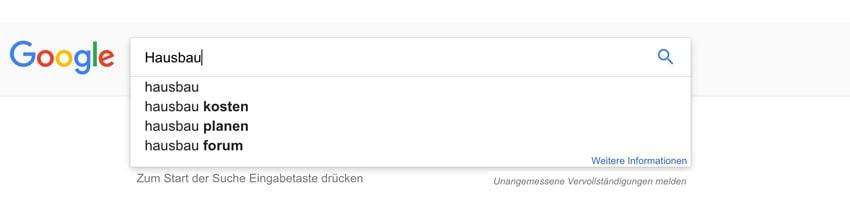 Keywordrecherche google