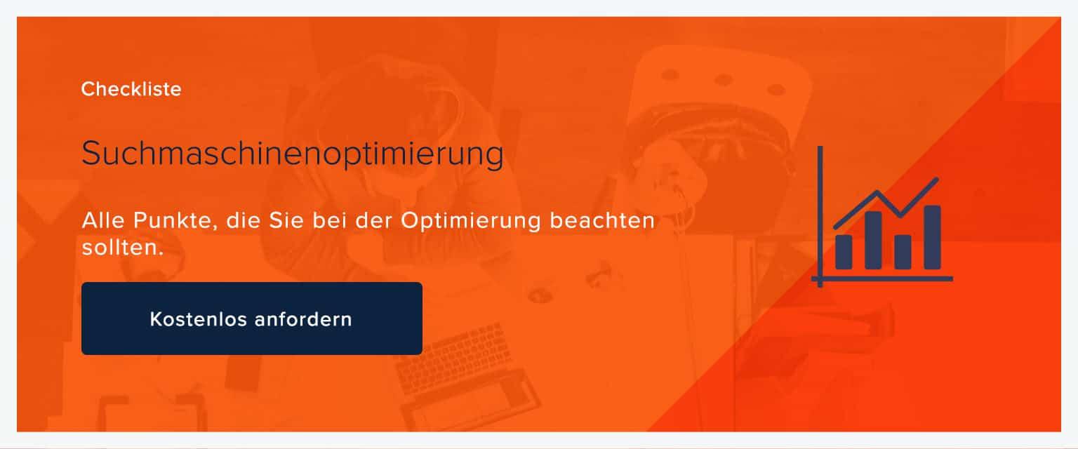 Checkliste SEO Suchmaschinenoptimierung Banner