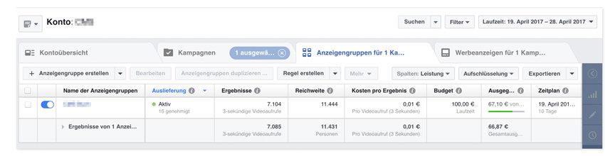 Facebook-Statistik