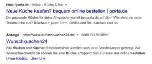 Screenshot von Google Ads